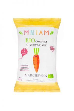 Chrupki Kukurydziane Marchewka Bezglutenowe Bio 55 g - Mniam
