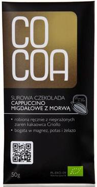 Czekolada Surowa Cappucino Migdałowe z Morwą Bio 50 g - Cocoa