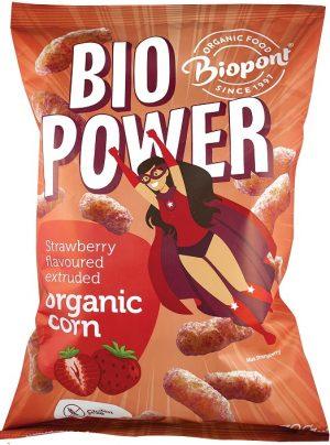 Chrupki Kukurydziane o Smaku Truskawkowym Bio 70 g - Biopont