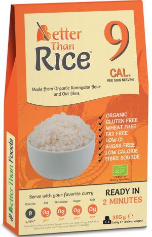 Makaron Konjac w Kształcie Ryżu Bio 385 g - Better Than Foods