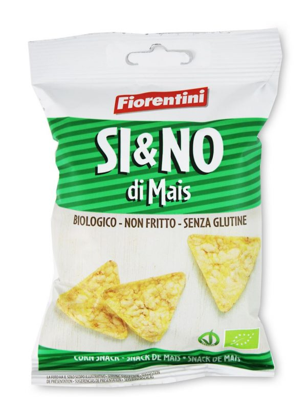 Chrupki Kukurydziane Piramidki z Sola Morską Bezglutenowe Bio 20 g - Fiorentini