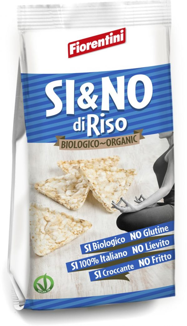 Chrupki Ryżowe Piramidki z Solą Morską Bio 100 g - Fiorentini