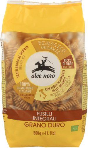 Makaron (Semolinowy Razowy) Fusilli Bio 500 g - Alce Nero