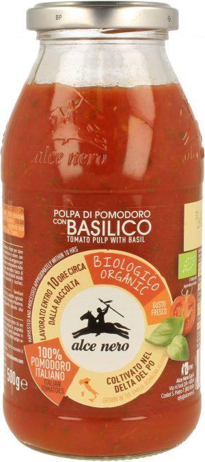 Pulpa Pomidorowa z Bazylią Bio 500 g - Alce Nero