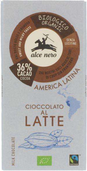 Czekolada Mleczna Fair Trade Bio 100 g - Alce Nero