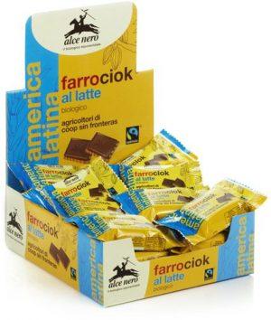 Herbatniki Orkiszowe z Mleczną Czekoladą Fair Trade Bio 28 g - Alce Nero