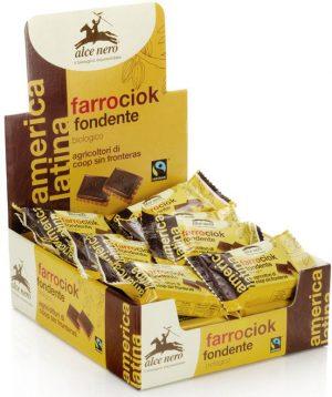 Herbatniki Orkiszowe z Gorzką Czekoladą Fair Trade Bio 28 g - Alce Nero