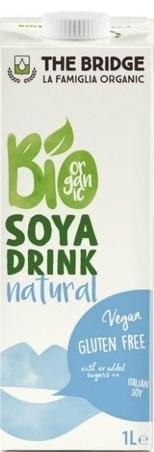 Napój Sojowy Naturalny Bezglutenowy Bio 1 l - The Bridge