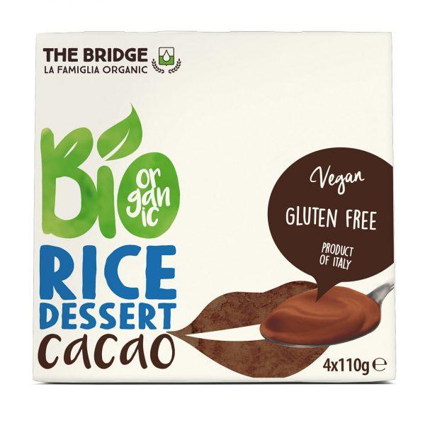 Deser Ryżowo Czekoladowy Bezglutenowy Bio 4X110 g - The Bridge