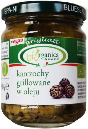 Karczochy Grillowane w Oleju Bio 190 g - Biorganica Nuova