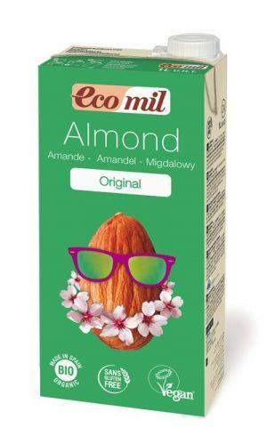 Napój Migdałowy Słodzony Syropem z Agawy Bio 1 l - Ecomil