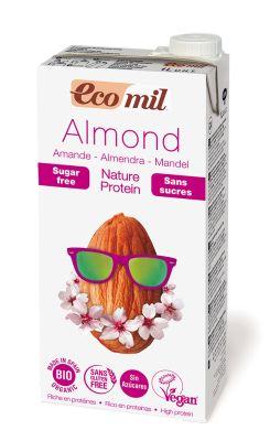 Napój Migdałowy Niesłodzony z Podwyższoną Zawartością Białka Bio 1 l - Ecomil
