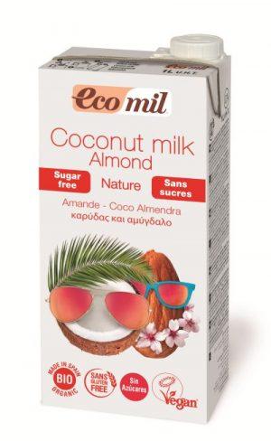 Mleczko Kokosowe z Migdałami Niesłodzone Bio 1 l - Ecomil