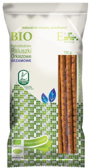 Paluszki Orkiszowe Pełnoziarniste z Sezamem Bio 150 g - Envoy