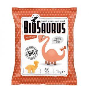 Chrupki Kukurydziane o Smaku Ketchupowym Bezglutenowe Bio 15 g - Biosaurus