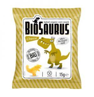 Chrupki Kukurydziane o Smaku Serowym Bezglutenowe Bio 15 g - Biosaurus