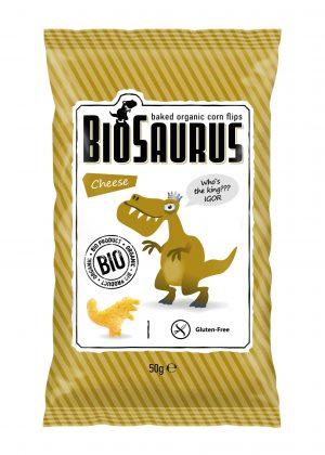 Chrupki Kukurydziane o Smaku Serowym Bezglutenowe Bio 50 g - Biosaurus