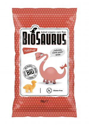 Chrupki Kukurydziane o Smaku Ketchupowym Bezglutenowe Bio 50 g - Biosaurus