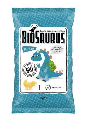 Chrupki Kukurydziane z Solą Morską Bezglutenowe Bio 50 g - Biosaurus