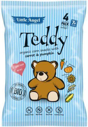 Chrupki Kukurydziane Marchew- Dynia Powyżej 7 M-Ca Bezglutenowe Bio (4X15 G) - Teddy