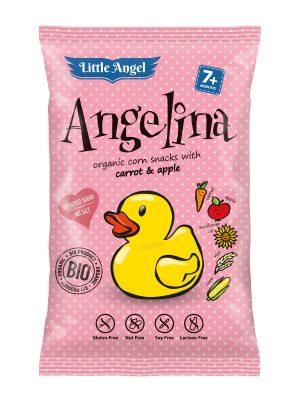 Chrupki Kukurydziane Mini Marchew- Jabłko Powyżej 7 M-Ca Bezglutenowe Bio 30 g - Angelina