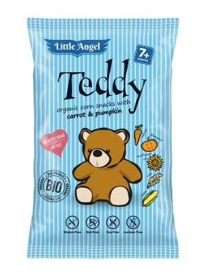 Chrupki Kukurydziane Mini Marchew- Dynia Powyżej 7 M-Ca Bezglutenowe Bio 30 g - Teddy