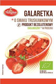 Galaretka o Smaku Truskawkowym Bio 40 g - Amylon