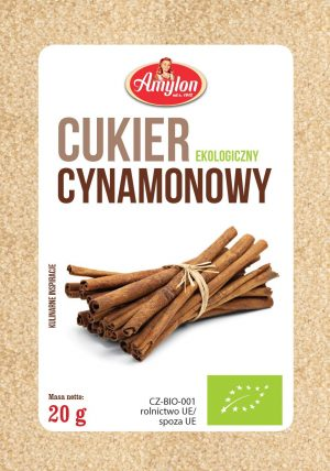 Cukier Cynamonowy Bio 20 g - Amylon