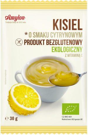 Kisiel o Smaku Cytrynowym Bio 30 g - Amylon