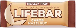 Baton z Karobem i Orzechami Raw Bio 47 g - Lifefood