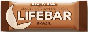 Baton z Orzechami Brazyliskimi Raw Bio 47 g - Lifefood