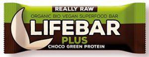 Baton Czekoladowy z Białkiem Konopnym i Spiruliną Raw Bio 47 g - Lifefood