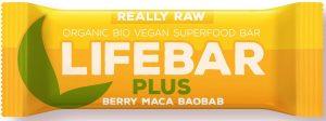 Baton z Żurawiną, Macą i Baobabem Raw Bio 47 g - Lifefood