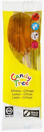 Lizaki o Smaku Cytrynowym Bio 13 g - Candy Tree