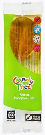 Lizaki o Smaku Ananasowym Bio 13 g - Candy Tree