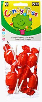Lizaki Okrągłe o Smaku Truskawkowym Bio (7 x 10 G) - Candy Tree