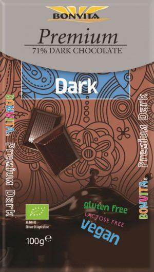 Czekolada Premium Gorzka 71% Fair Trade Bio 100 g - Bonvita