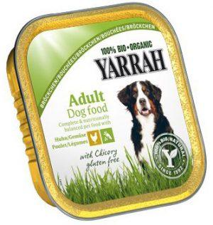 Karma Dla Psa Kawałki Kurczaka z Warzywami Bio 150 g - Yarrah
