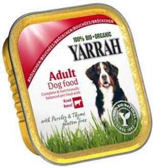 Karma Dla Psa Kawałki Kurczaka z Wołowiną Bio 150 g - Yarrah