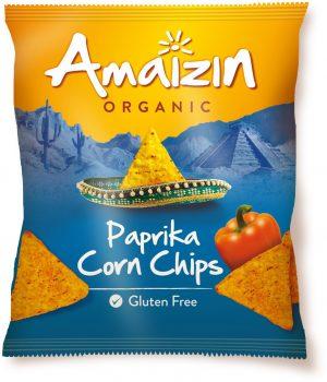 Chipsy Kukurydziane o Smaku Paprykowym Bio 75 g - Amaizin