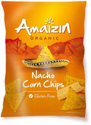Chipsy Nachos Kukurydziane o Smaku Serowym Bio 150 g - Amaizin