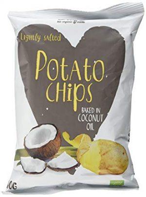 Chipsy Ziemniaczane Smażone Na Oleju Kokosowym Bio 100 g - Trafo