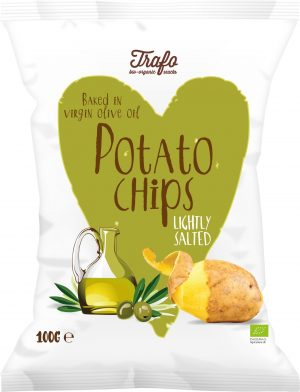 Chipsy Ziemniaczane Smażone Na Oliwie z Oliwek Bio 100 g - Trafo