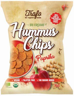 Chipsy z Ciecierzycy Paprykowe Bio 75 g - Trafo