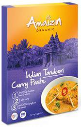 Pasta Curry Indian Tandoori Bio 80 g - Amaizin