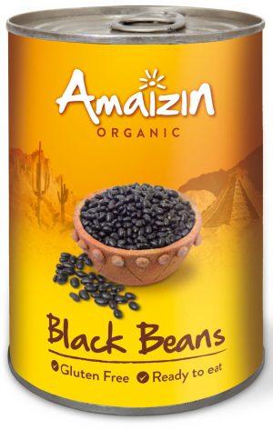 Fasola Czarna w Zalewie (Puszka) Bio 400 g (240 G) - Amaizin