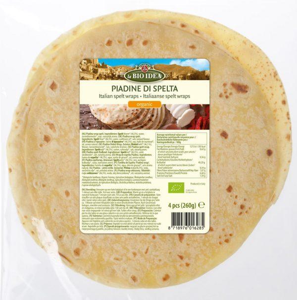 Tortilla Orkiszowa Piadina Bio 260 g - La Bio Idea