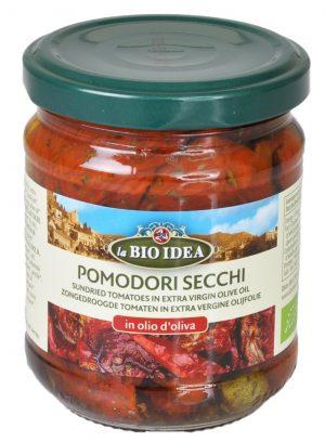 Pomidory Suszone w Oliwie z Oliwek Bio 190 g - La Bio Idea