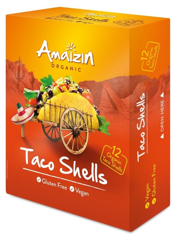 Muszle Taco Bezglutenowe Bio 150 g (12 szt.) - Amaizin