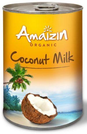 Kokosowa Alternatywa Mleka (17% Tłuszczu) Bez Gumy Guar Bio 400 Ml - Amaizin